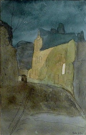 street at night, meudon (not for sale) by gwen john