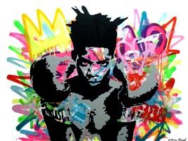 never drop your guard (basquiat) by elmo hood