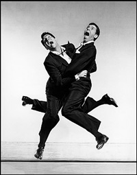 american actors dean martin and jerry lewis by philippe halsman