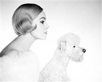 grit huscher with poodle, stole by oestergaard by f. c. gundlach
