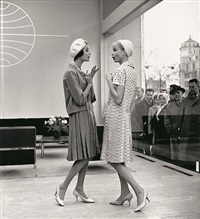summer-fashion-theater, gitta schilling and christa vogel, ensembles by guy laroche, paris by f. c. gundlach