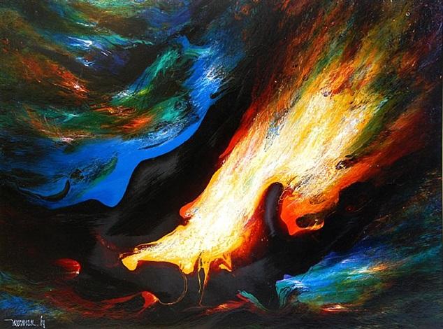 volcanic wind by leonardo nierman