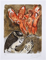 sara et les angels (sarah and the angels) 1960 from drawings from the bible by marc chagall