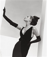 christy turlington - valentino, miami by herb ritts