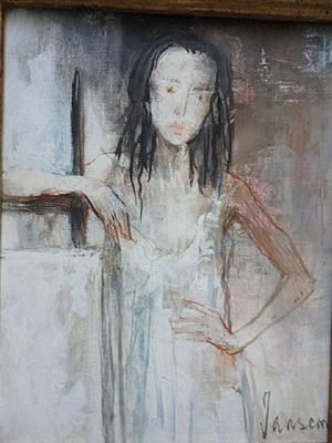 joellel at easel by jean jansem