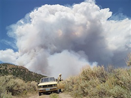 george chasing wildfires, eureka, nevada by lucas foglia