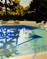 swimmingpool am morgen by leif trenkler