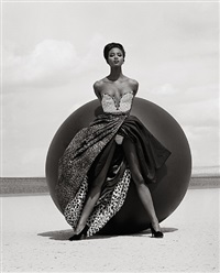 naomi campbell - versace, el mirage 2 by herb ritts