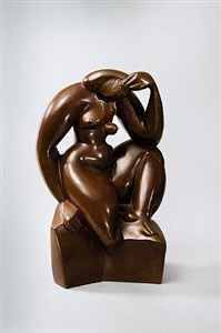 seated woman by alexander archipenko