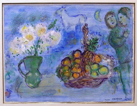 corbeille de fruits by marc chagall