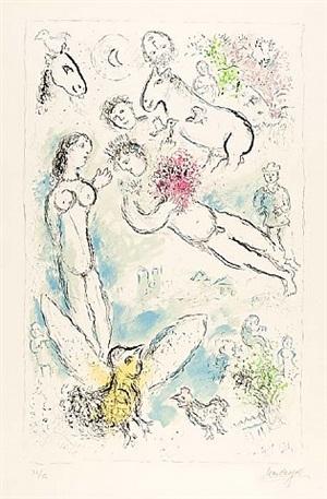 l'envolée magique (magic flight) by marc chagall