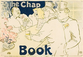 irish and american bar, rue royale- the chap book by henri de toulouse-lautrec