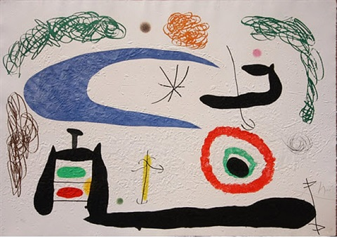 dormir sous la lune/sleeping under the moon by joan miró