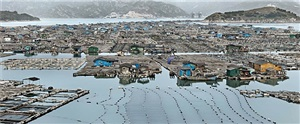 marine aquaculture #2, luoyuan bay, fujian province, china, 2012 by edward burtynsky
