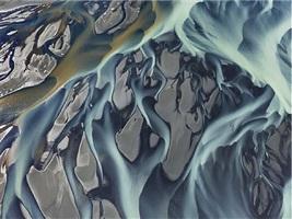 thjorsa river #1, iceland, 2012 by edward burtynsky