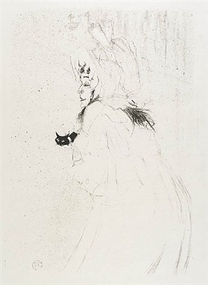 miss may belfort saluant (miss may belfort taking a bow) by henri de toulouse-lautrec