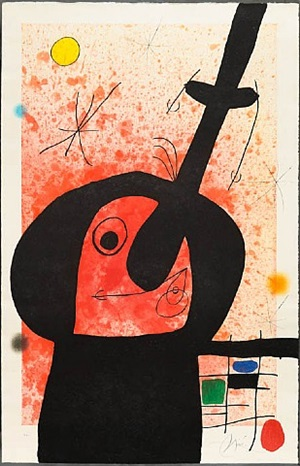 le penseur puissant (the powerful thinker) by joan miró