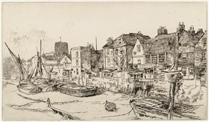 """the """"adam and eve"""", old chelsea by james abbott mcneill whistler"""