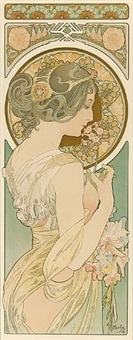 la primavere (the primrose) by alphonse mucha