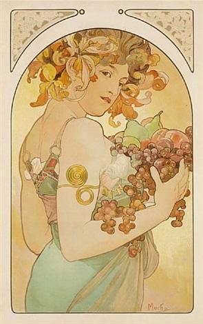 le fruit by alphonse mucha