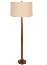 martz walnut floor lamp by gordon martz