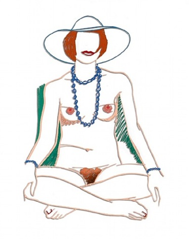 monika crosslegged with beads by tom wesselmann