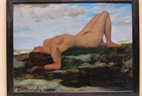 untitled (nude on the beach) by emil firnrohr