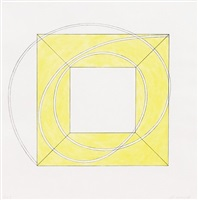 framed square with open centre a by robert mangold