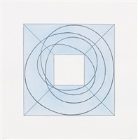 framed square with open centre b by robert mangold