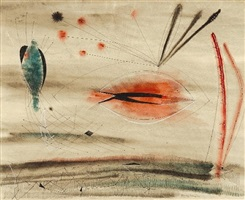 fish and bird by dorothy dehner