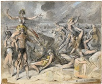 coney island beach scene by reginald marsh