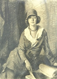 portrait of the artist's wife by aiden lassell ripley