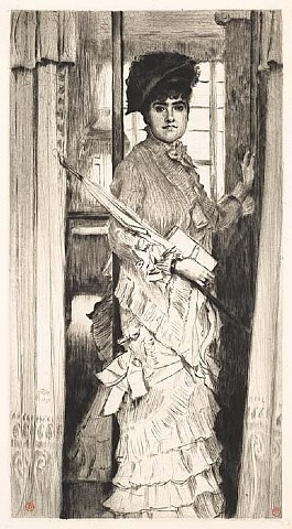 portrait de miss l . . . ou il faut qu'une porte soit ouverte (portrait of miss l . . . or a door must be either open or shut) by james jacques joseph tissot