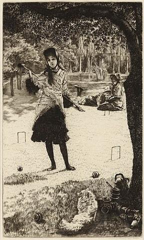 le croquet by james jacques joseph tissot