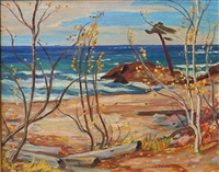 shoreline, georgian bay by alexander young jackson