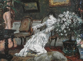 sarah bernhardt assise by georges jules victor clairin