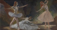 rhythm of the ballet - moira shearer in 'the red shoes' by william russell flint