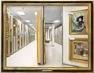 storage rooms of the galleria nazionale d'arte moderna - rome by mauro fiorese