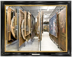 storage rooms of the museo di castelvecchio - verona by mauro fiorese