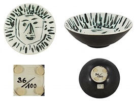 visage - bowl: full- face by pablo picasso