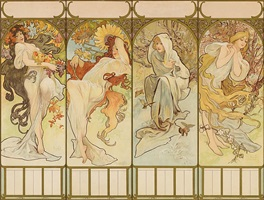 les saisons (the seasons) by alphonse mucha