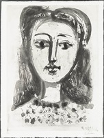 portrait de françoise aux cheveux flous by pablo picasso