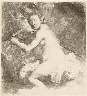 diana at the bath by rembrandt van rijn