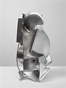 silver piece 19 mirror view by anthony caro