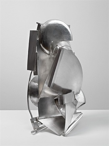 silver piece 19 (mirror view) by anthony caro