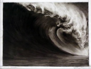 untitled (study for mavericks) by robert longo