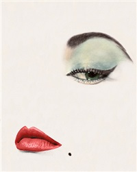 dow eye, jean patchett, vogue, new york, 1 january 1950 by erwin blumenfeld