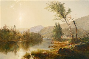 a summer day in the white mountains by william hart