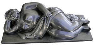 donna con panno by fernando botero