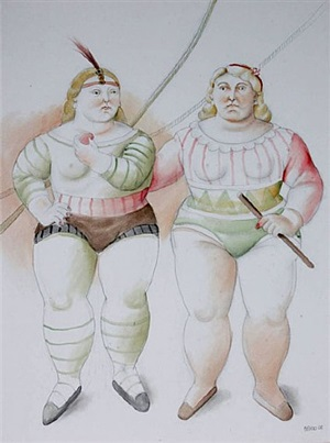 circus people by fernando botero